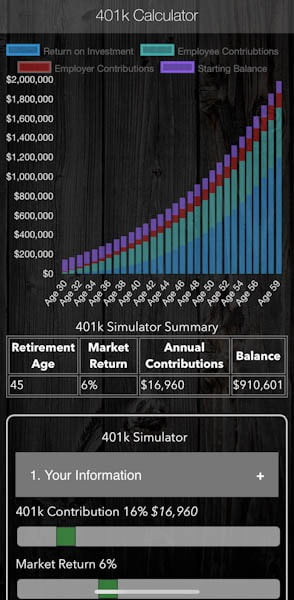 401k Calculator FIRE App