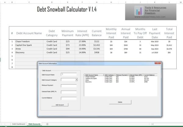 Credit Card Payoff Calculator View