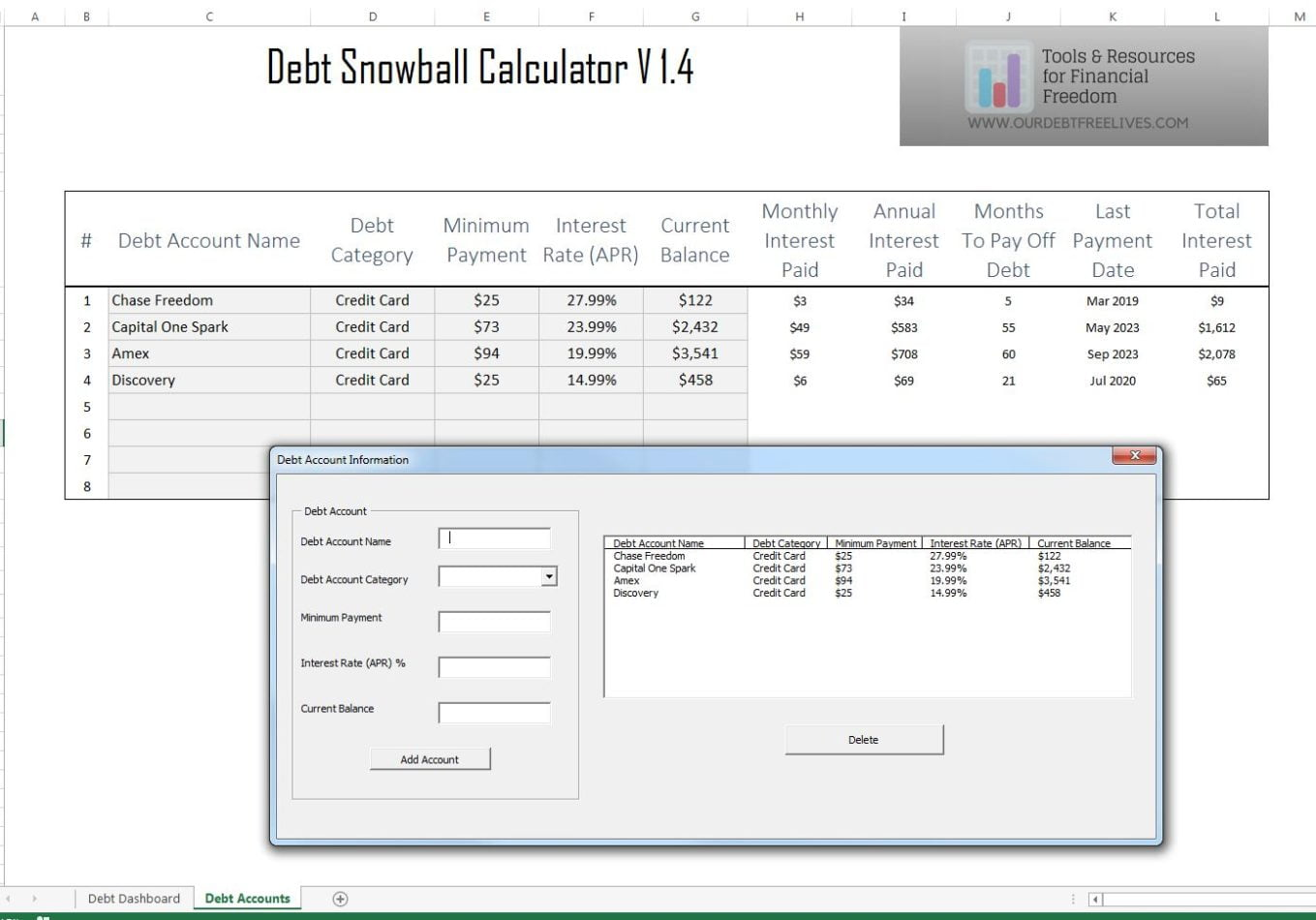debt snowball calculator - debt reduction services