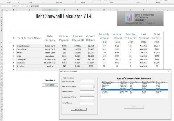 Debt repayment calculator excel worksheet