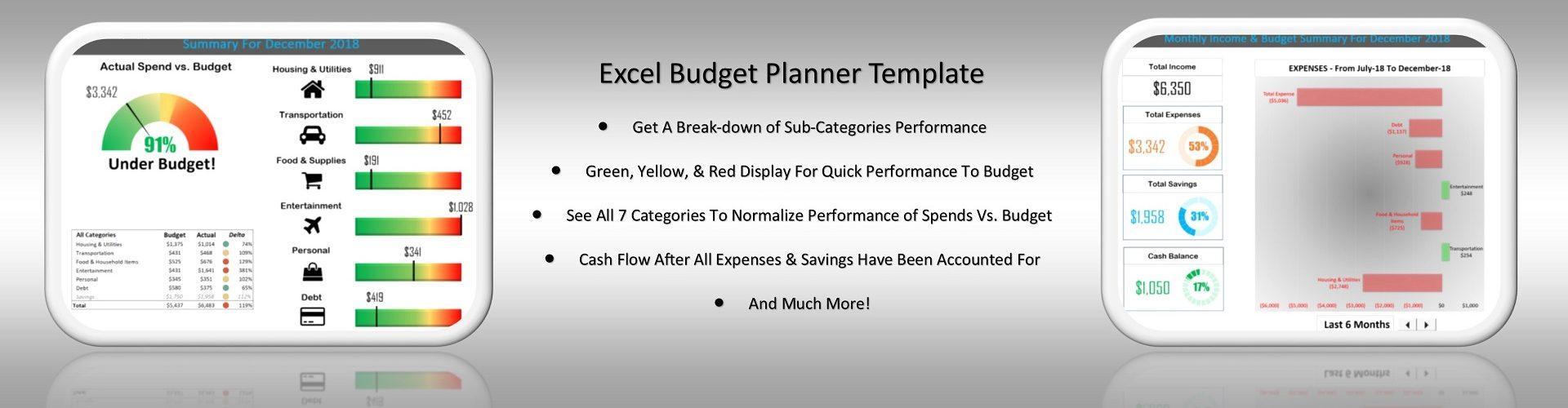 Excel Budget Planner Dashboard Mega Slider 1920x512