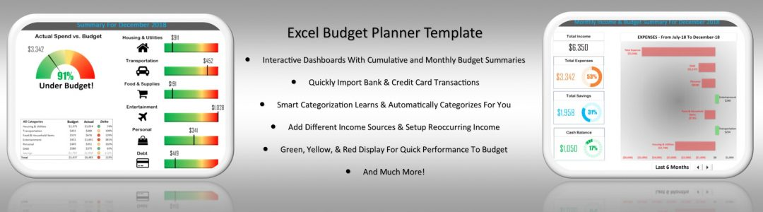 Excel Budget template Planner