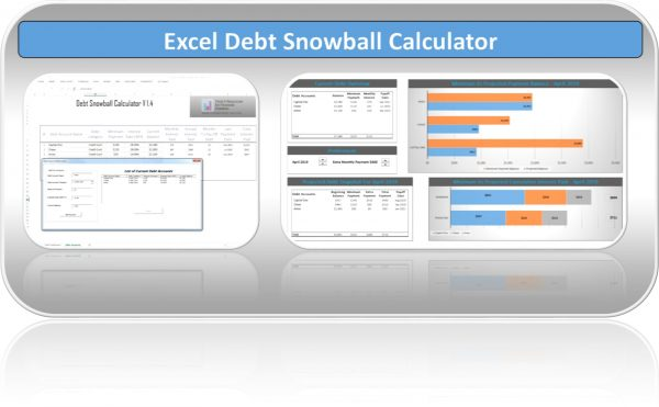 Excel Debt Snowball Calculator Template Sheet