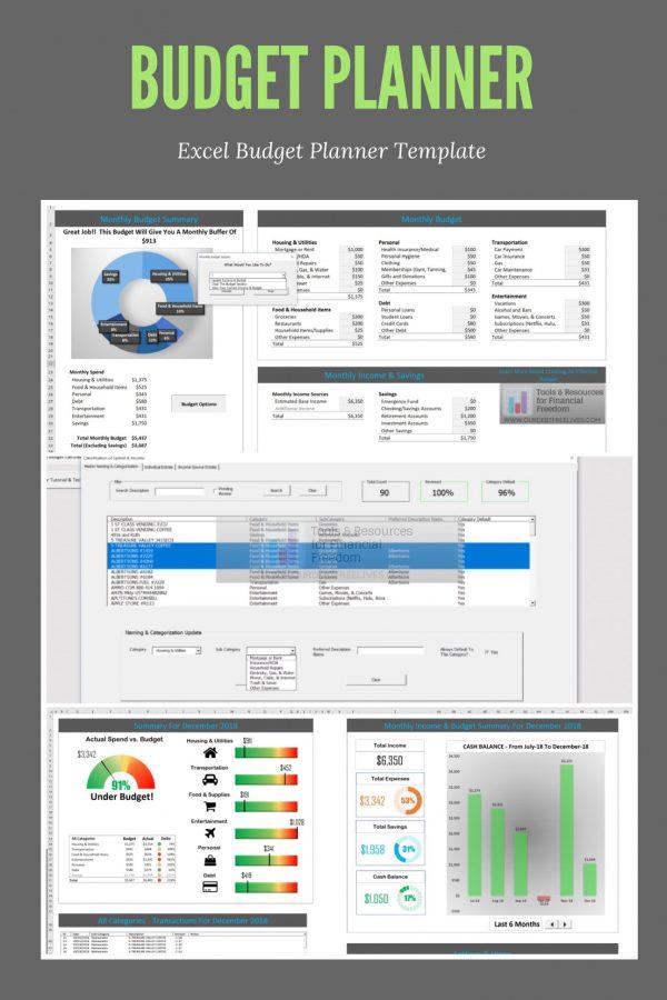 Excel budget spreadsheet planner