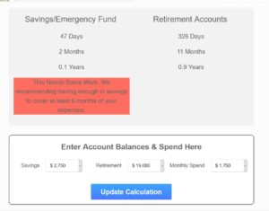How Long Will Your Savings/Retirement Last
