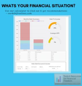 debt calculator to assess your financial situation