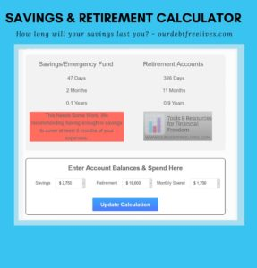 will your savings retirement last